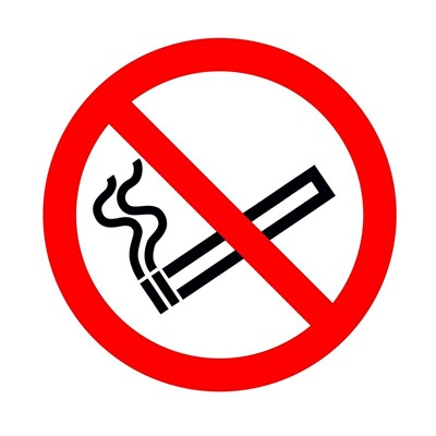 No Smoking Sticker - Double Sided